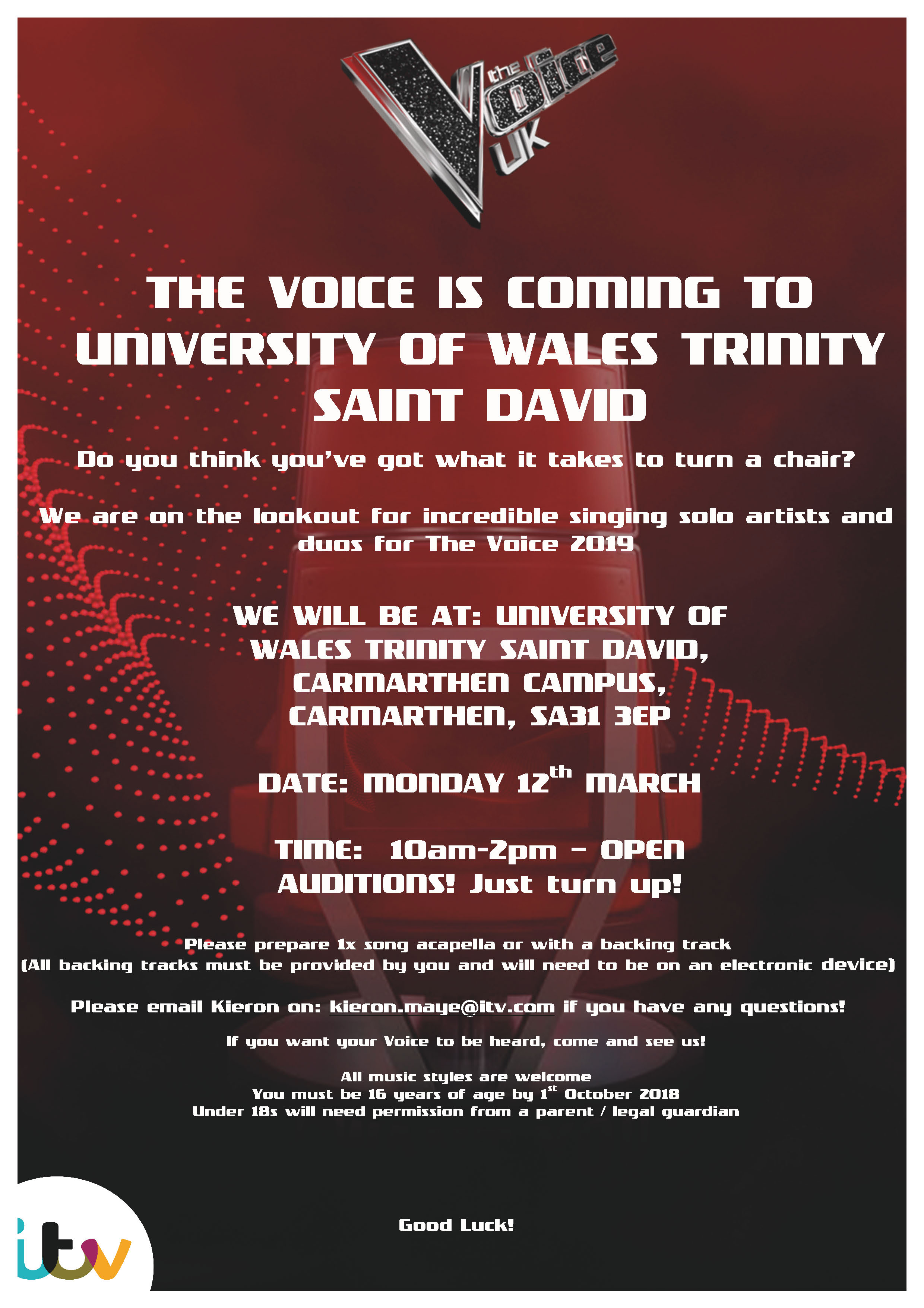 Open Auditions for The Voice